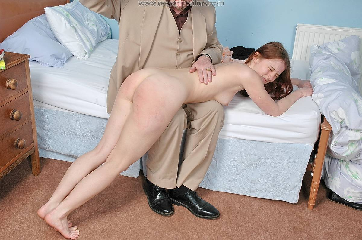 naked girl getting sex spanked