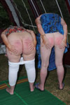 Dani Loveday and Sandy are caned