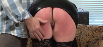Tanya punished on her bare bottom