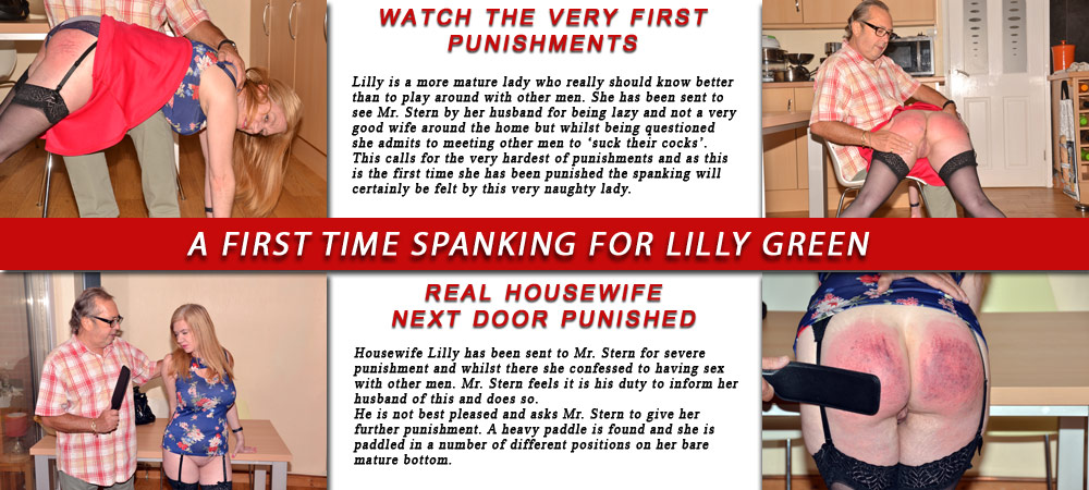 First time spanking for Lilly