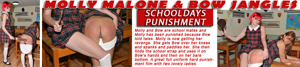 Molly Malone spanks Bow