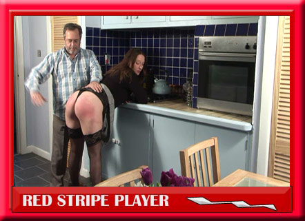 Spanked in her kitchen